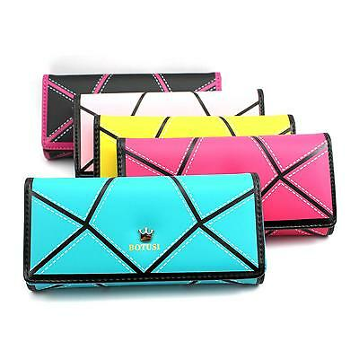 Women Assorted-color PU Leather Card Coin Phone Handbag Purse Clutch Bag Wallet