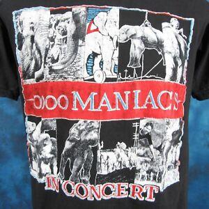 vintage-80s-10-000-MANIACS-CONCERT-T-Shirt-XS-SMALL-rock-pop-tour-r-e-m-thin