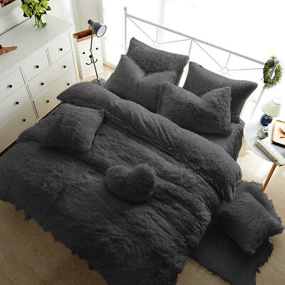 Single Size Only Teddy Bear Fleece Fitted Sheet in Charcoal Colour