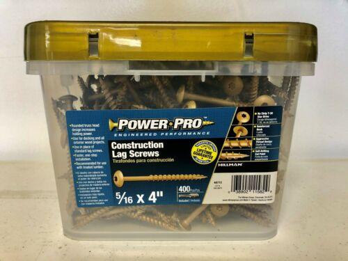 "Power Pro Construction Lag Screws 5//16/""x 4/"" w// no strip T-30 star drive 400pc"
