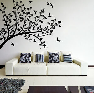 Tree Branch Wall Decal Silhouette Nature Home Art Decor Room - Wall decals removable