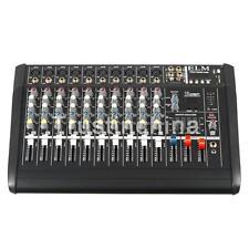 AW 10 Channel 2000 Watt Professional Powered Mixer w/ USB Slot Power Mixing