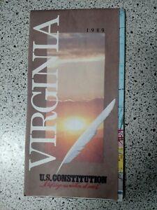1989-Virginia-Vintage-Road-Map-Used
