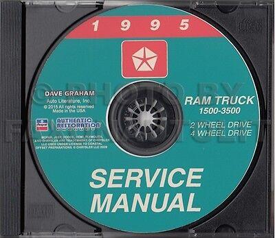 1995 Dodge Ram Truck Shop Manual CD 1500 2500 3500 Service Repair ...