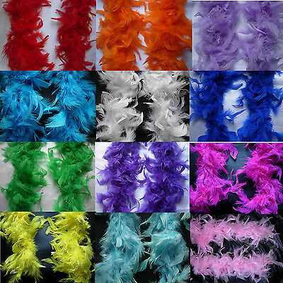2M Black Pink..Feather Boa Hen Night Parties  party Fancy Dress 15 Colour
