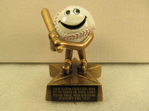 Baseball Trophy Award Lil /'Buddy Gravure Gratuite expédié 2 jours priorité Boîte Cadeau