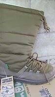 Sanuk Cariboot Suede Down Winter Boots Womens 8 Warm Tan Suede & Down