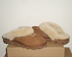 UGG Women's COQUETTE Slipper Shoes CHESTNUT Brown 8US NIB $120 MSRP