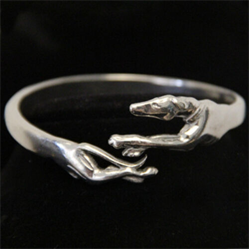 Racing Greyhound Bracelet Pewter Running Whippet Galgo Jewelry