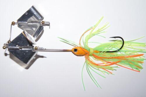 10 sizes - Single Color 4 Fish Techniques Buzz Bait Double Blade - colors