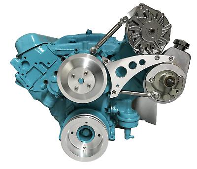 Power Steering Pump and Alternator Brackets For Pontiac and Chevrolet 1969-2018 Models with 350-400 428 and 455 V8 Engines w//V-Belts Black Black Path T6 Billet