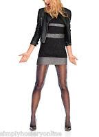 Le Bourget Collant Fêtes Lurex 40 Denier Tights Black or Bronze Sparkly Party