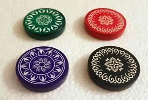 2-Pcs-India-Tournament-Carrom-Carom-Board-Coins-Plastic-Striker-Flicker-Counter