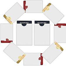 10 RFID 8x Card 2x Passport Credit ID Sleeve Holder Blocking Safety Shield Theft