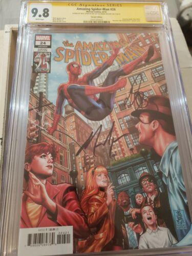 Amazing Spider-man #24 Brooks Var CGC SS 9.8 signed Nick Spencer /& Mark Brooks