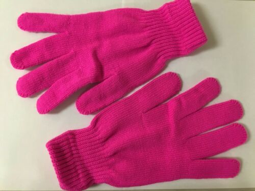 ERB Ladies Knit Pink Gloves Breast Cancer Awareness Winter Safety 21330 Large