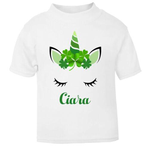 Irish Unicornio Personalizado Personalizado Camiseta Babygrow el día de San Patricio Irlanda Lindo