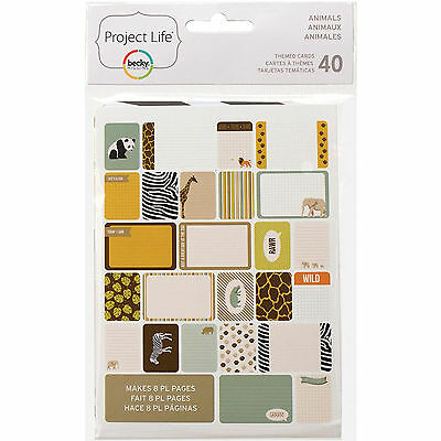Becky Higgins PROJECT LIFE ZOO ANIMALS 40-PK Themed Cards scrapbooking 97719