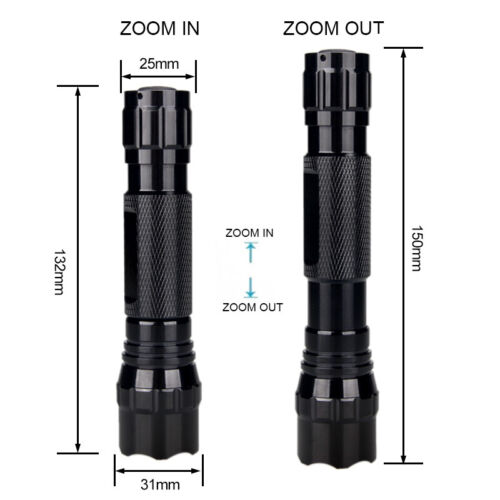 IR Night Vision 300yards Hunting 850nm Infrared Zoom LED Light w// Scope Mount