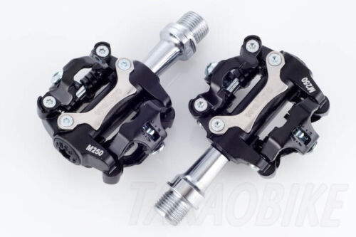 New Wellgo Bike CLIPLESS Pedal SPD COMPATIBLE Cleat 98A Black US SELLER