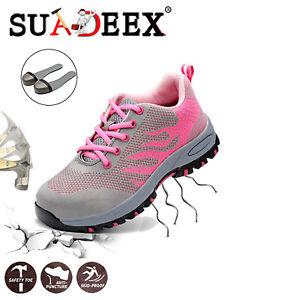 Scarpe-antinfortunistica-Donna-da-lavoro-Scarpe-da-ginnastica-Sneakers-sportive