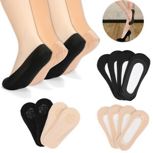 4-Pairs-Womens-Ankle-Boat-Liner-Invisible-No-Show-Low-Cut-Solid-Cotton-Socks