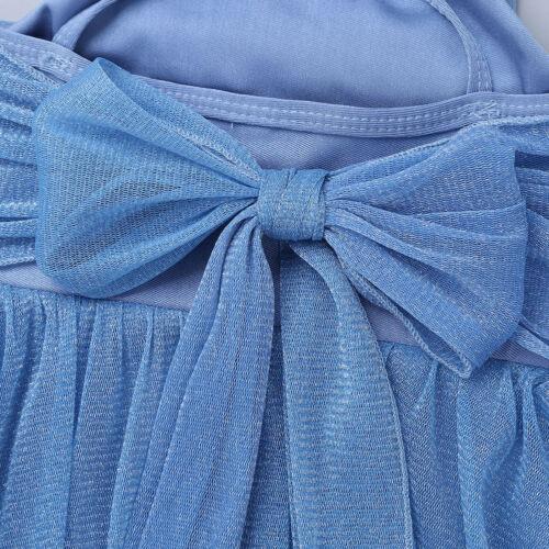 Girls Ballet Princess Dance Dress Kids Spaghetti Straps Leotard Latin Dancewear