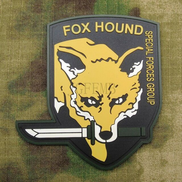 Metal Gear Solid FOX HOUND Special Force Group 3D PVC Velcor Patch