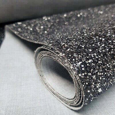 SOLD BY THE METRE Gold chunky glitter 15cm wallpaper border grade 3 sold by metre fabric bling