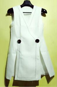 White-Contrast-Stitch-Vest-Coat