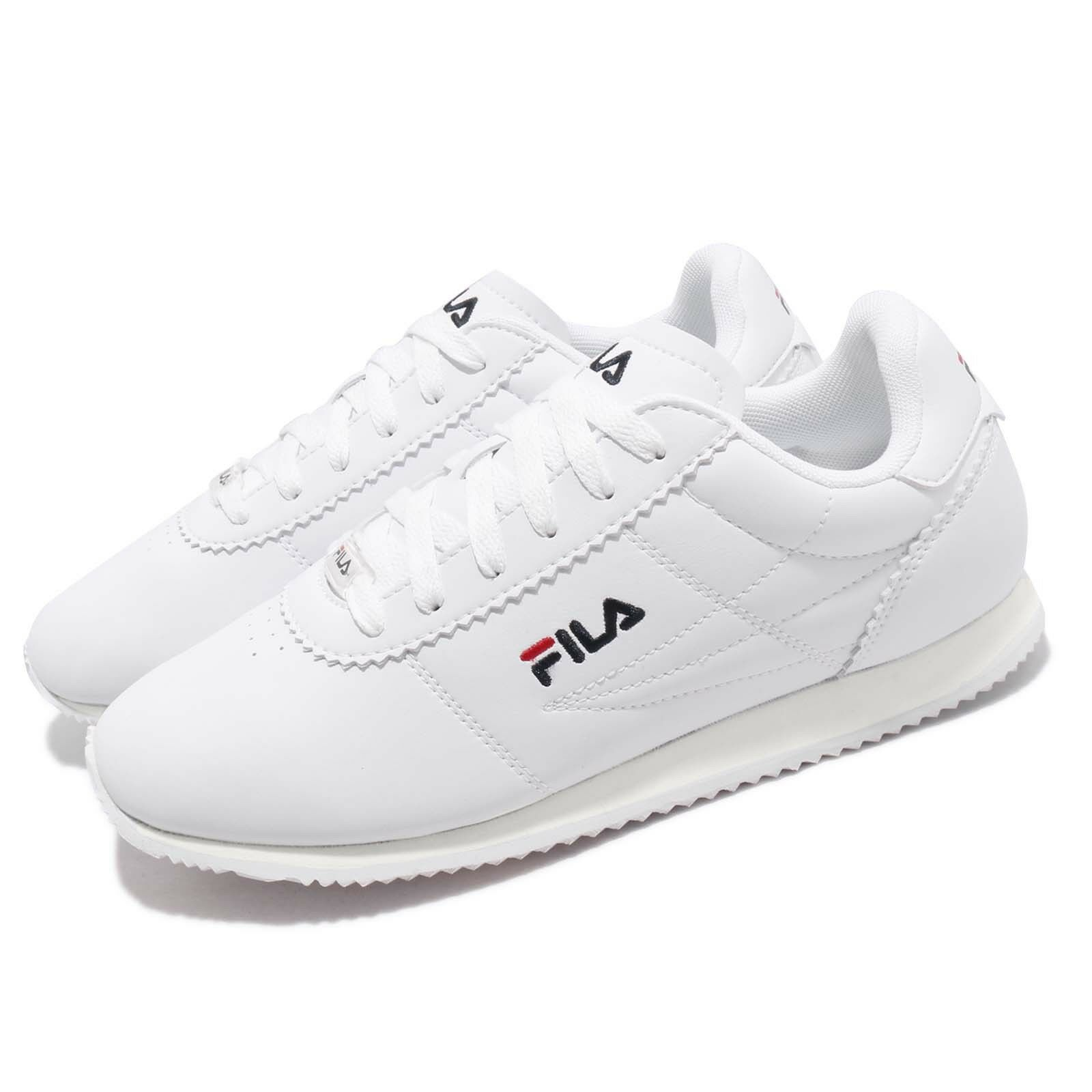 0cfc4ef6a Fila 1J903S113 White Navy Red Men Running Casual Vintage Classic shoes  Sneakers