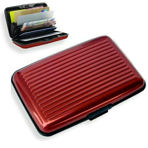 UK Stock RFID BLOCK Metal Wallet Aluminium Business Id Credit Card Case Holder