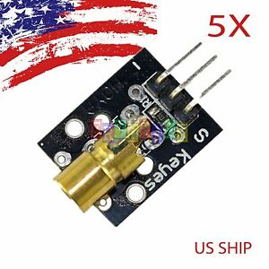 5 PCS 5X KY008 Laser Transmitter Module for Arduino AVR PIC Fast US SHIP