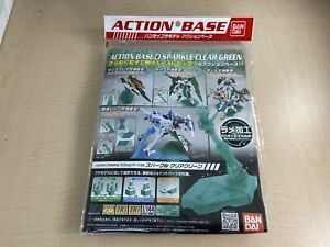 Bandai Hobby Action Base 2 Display Stand 1//144 Scale Sparkle Green