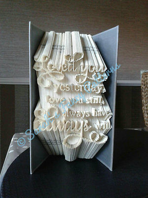 Christmas Quote Book Art Folding PATTERN  #629