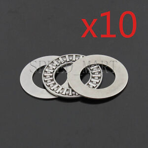 10 PCS AXK5070 Thrust Needle Roller Bearing With Two Washers 50mm x 70mm x 3mm