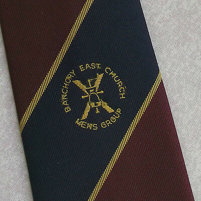 Buono Vintage Tie Cravatta Da Uomo Retrò 1980s Est Chiesa Gruppo Da Uomo-mostra Il Titolo Originale Lasciamo Che Le Nostre Merci Vadano Al Mondo