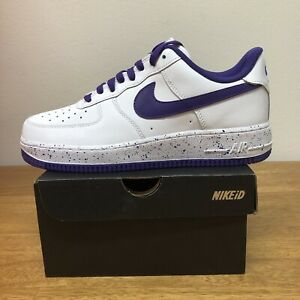 NIKE-AIR-FORCE-1-ID-AF1-PURPLE-WHITE-MENS-SZ-9-5-AQ3774-991