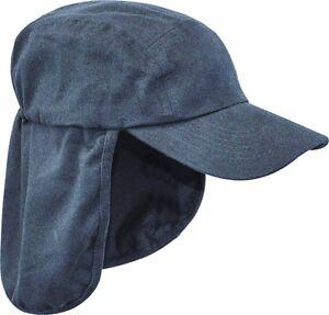 7131c39c490ea LADIES LEGIONNAIRES SUN HAT Womens blue cotton cap neck ear cover ...
