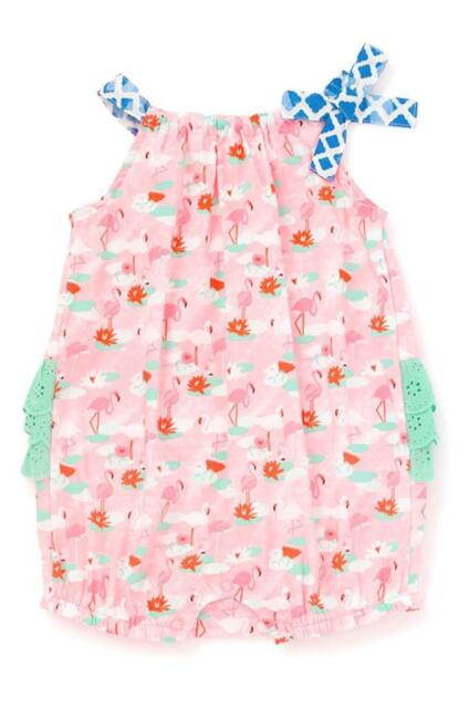 6e84410ee2aa Matilda Jane GUMBALL BUBBLE 6-12 Months Flamingo Pink Baby Romper One-Piece  NWT