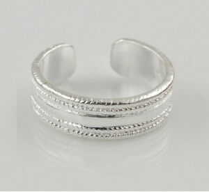 Adjustable-line-Design-925-Silver-Open-Ring-Toe-Ring