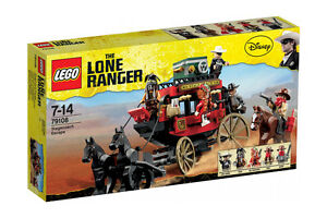 Lego-The-Lone-Ranger-79108-STAGECOACH-ESCAPE-Horse-Carriage-Western-Minifig-NISB