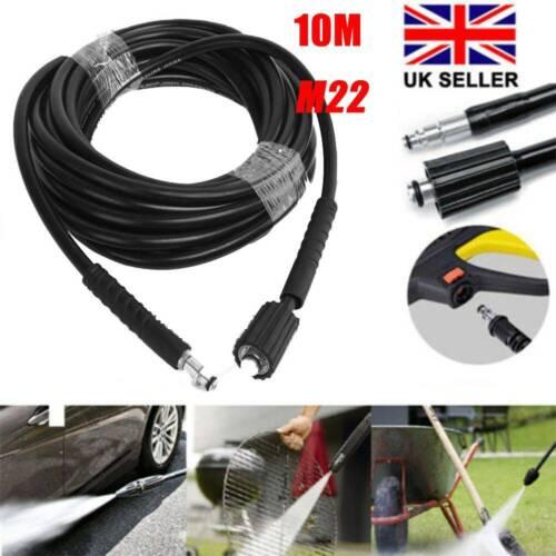 32Ft 10M High Pressure Washer Hose Water Clean Pipe M22 For Karcher K3 K4 K5 UK