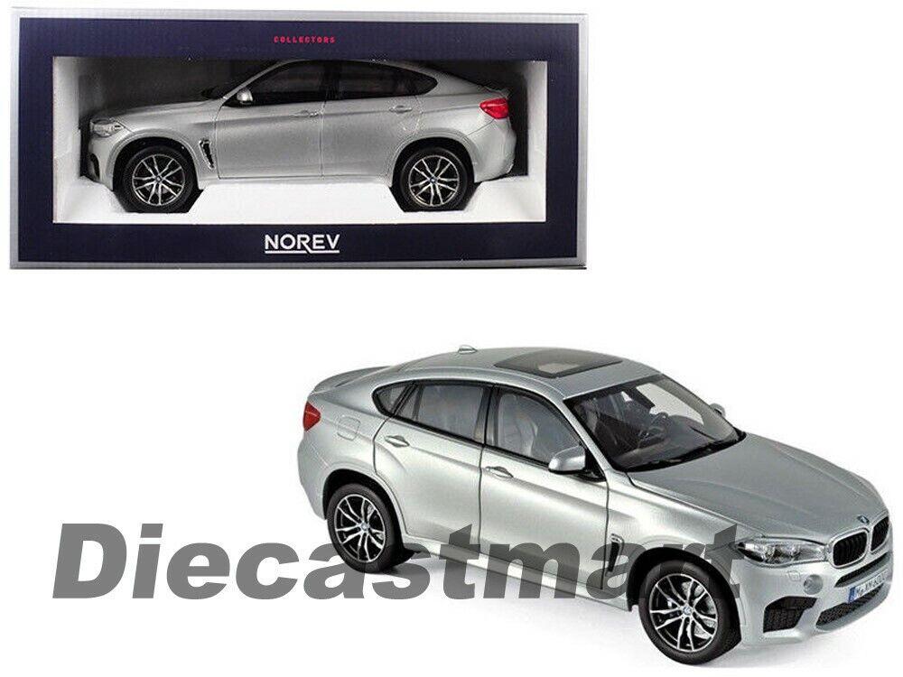 Norev 1 18 2016 BMW X6 M Diecast Modelo de Coche Nuevo Plata 183200 6 Serie Sport Utility Vehicle