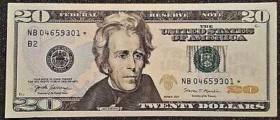 Crisp New Sequential Uncirculated 2017 Twenty Dollar $20 STAR Notes