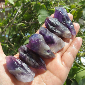 100g-Natural-Purple-Amethyst-Point-Quartz-Crystal-Rock-Stone-Mineral-SpecimDS