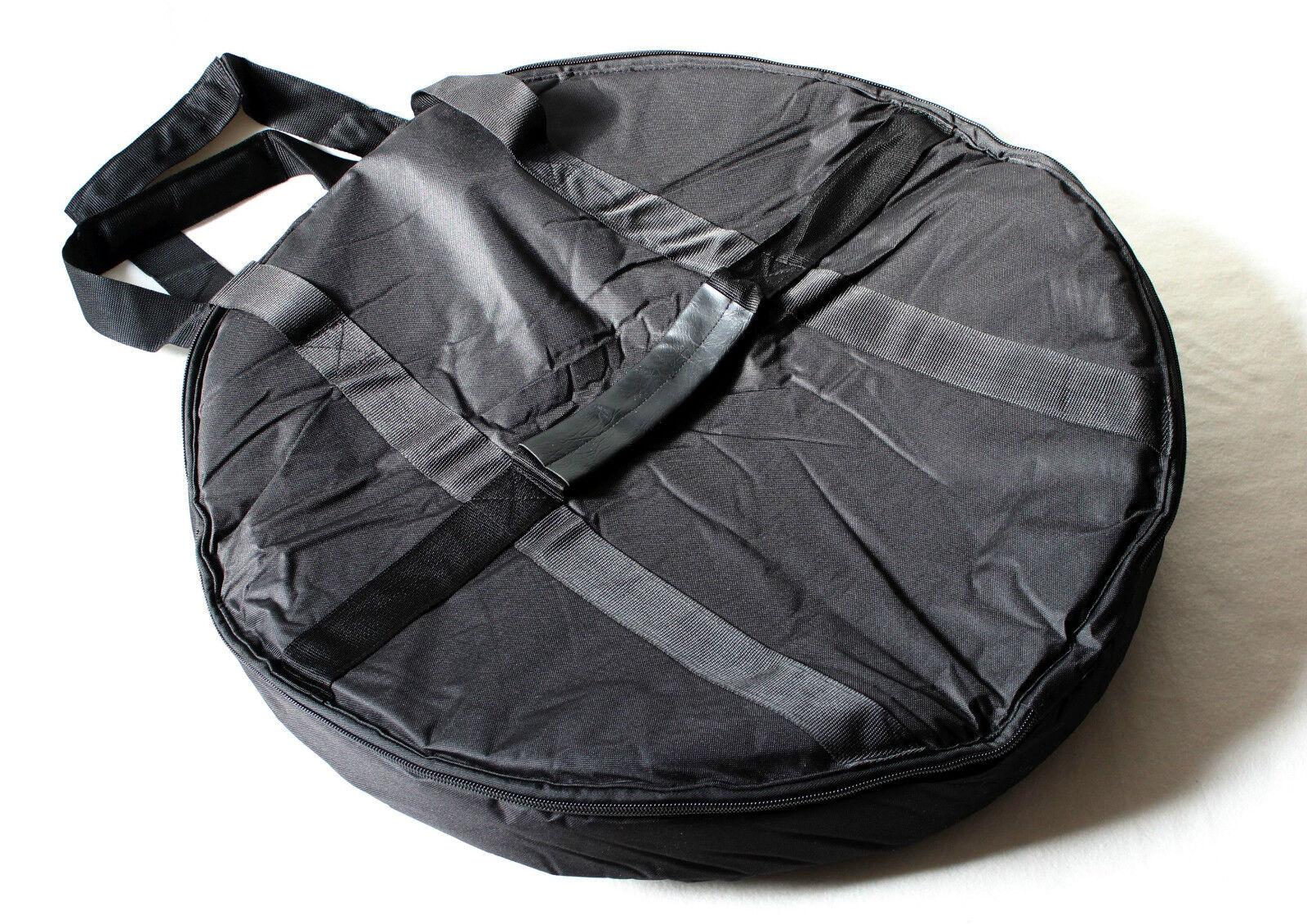 Dick gepolstertete schwarze Gong Tasche 80cm