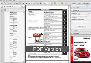 2008 mazda 3 service repair manual software