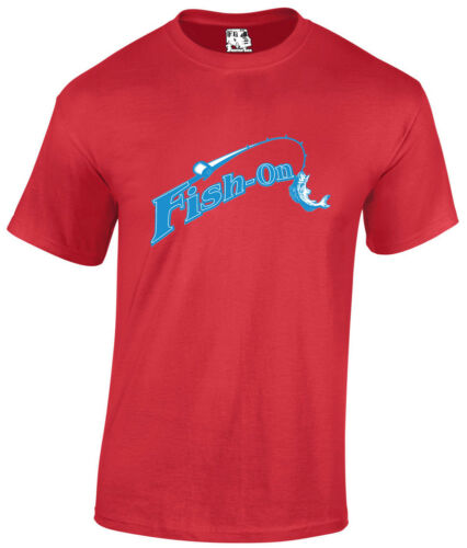 Poisson sur Homme Pêche T-shirt Fly Sea FISHERMAN River Boat tshirt tee
