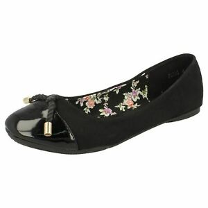 Blanc Ou Citron Spot on F9R0058 Femmes à Lanières Chaussures Vernies Noir R8A